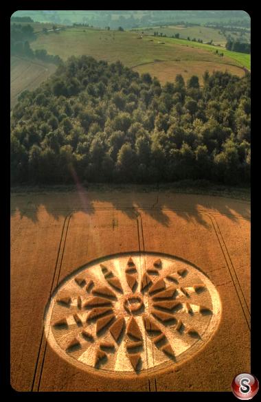 Crop circles - Okeford Hill Dorset 2021