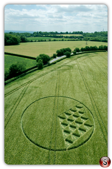 Crop circles Margery, Surrey UK 2015