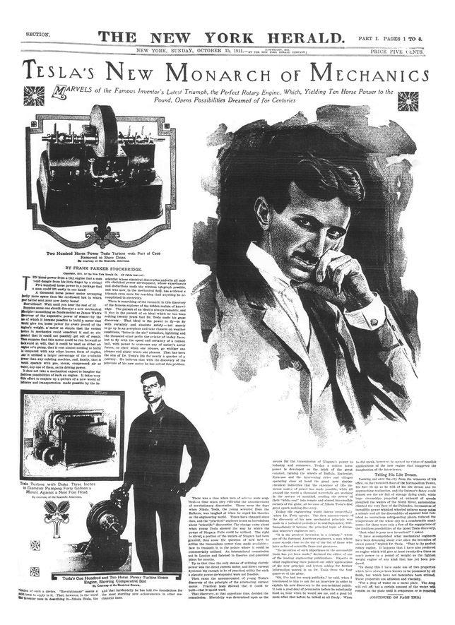 The New York Herald - Tesla's new Monarch of mechanics