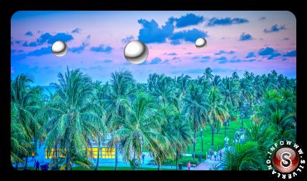 Una rappresentazione di strane sfere della Florida