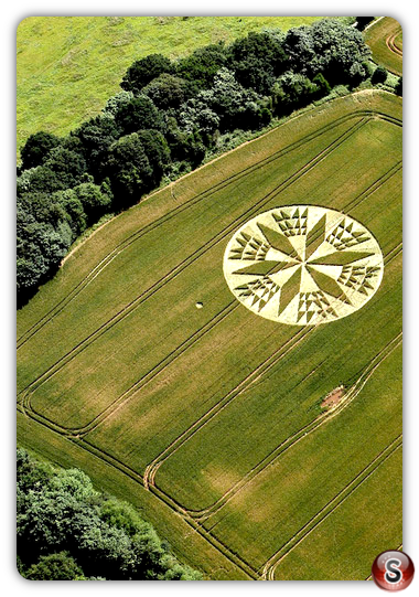Crop circles - Corley nr Coventry, Warwickshire 2012