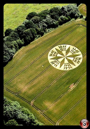 Crop circles - Corley nr Coventry, Warwickshire 2012