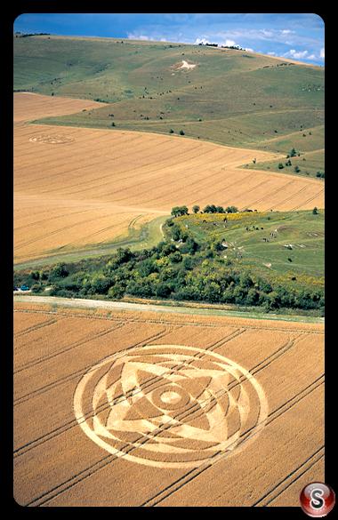 Crop circles - Alton Priors Wiltshire 2001