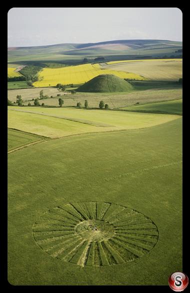 Crop circles - Waden Hill Wiltshire 2002