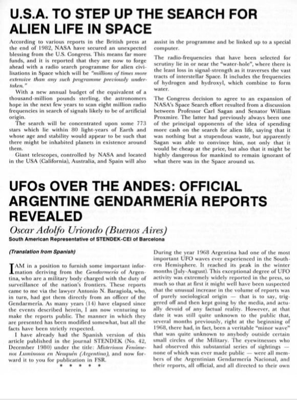 Stati Uniti intensificano la ricerca della vita aliena nello spazio - Rivelati i rapporti della Gendarmeria Argentina