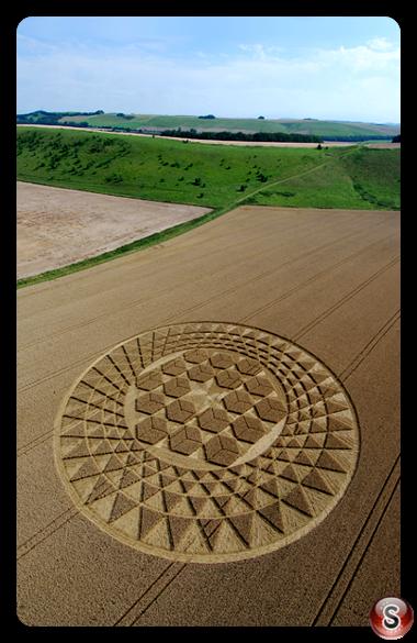 Crop circles - Sugar Hill near Aldbourne Wiltshire 2007