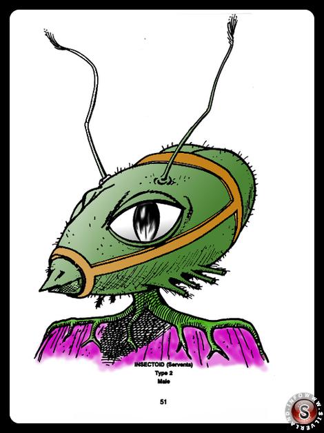 Insectoid type 2 ( false colour ) - Blue Planet Project - Rielaborazione grafica Silverland
