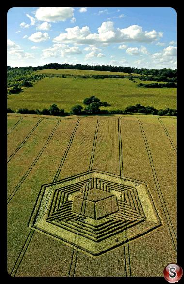 Crop circles - Fosbury nr Vernham Dean 2010