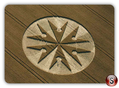Crop circles Chute Causeway, Tidcombe, Wiltshire UK. 2013
