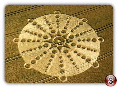 Crop circles - Old Shaw Village, Wiltshire 2001