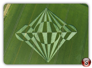 Crop circles - All Cannings, Wiltshire 2008
