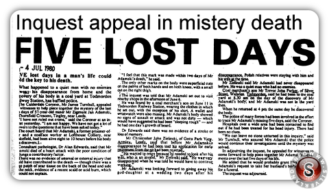 Uno dei tanti articoli dell'epoca datato 4 July 1980