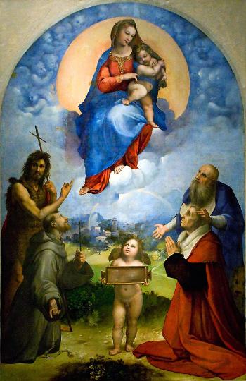 Raffaello Sanzio ( 1511-1512 ) La Madonna di Foligno