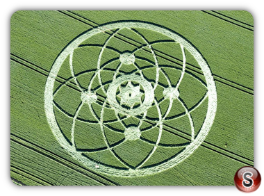 Crop circles - Hackpen Hill, Nr Broad Hinton, Wiltshire, UK. 2013