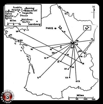 Mappa pubblicata da Aimé Michel