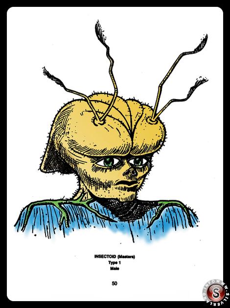 Insectoid type 1 ( false colour ) - Blue Planet Project - Rielaborazione grafica Silverland