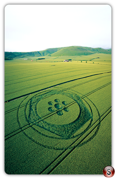 Crop circles - All Cannings Wiltshire 2003