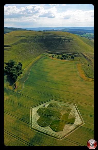 Crop circles - Cley Hill, nr Warminster, Wiltshire 2010