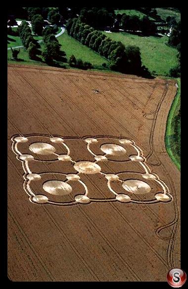 Crop circles - Avebury Manor Wiltshire 2005