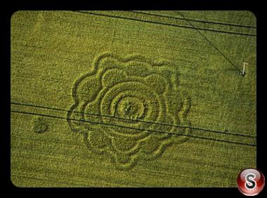Crop circles - Goodworth Clatford Hampshire 1996