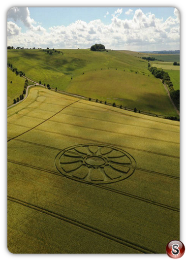 Crop circles Barbury Castle - Wiltshire 2020