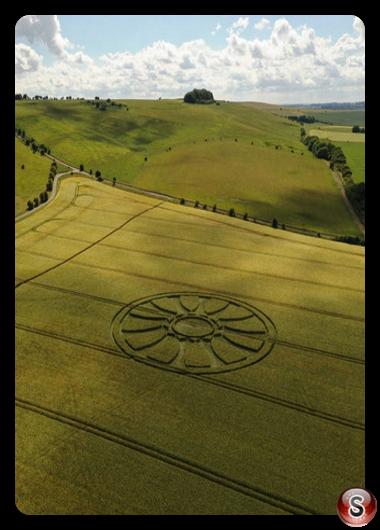 Crop circles - Barbury Castle Wiltshire 2020