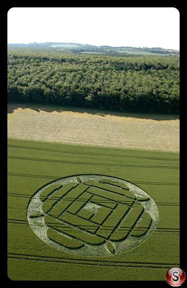 Crop circles - West Woods Lockeridge Wiltshire 2005