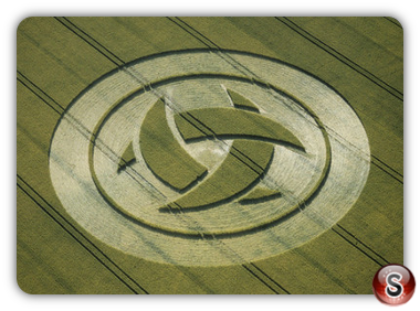 Crop circles - Barbury Castle, Wiltshire 1999
