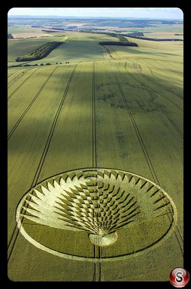 Crop circles - Uffington Castle Oxfordshire 2006