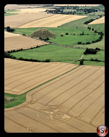 Crop circles - West Kennett Longbarrow Nr Avebury Wiltshire UK 2013