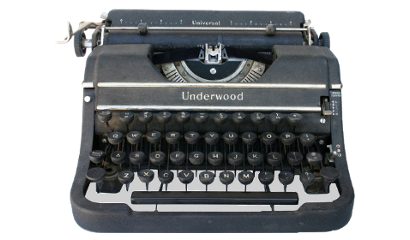 Macchina da scrivere Underwood usata da Matilda O'Donnell MacElroy