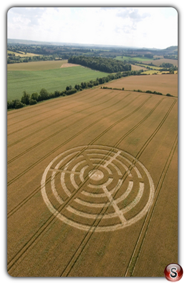 Crop circles - Wootton Rivers, Wiltshire 2007