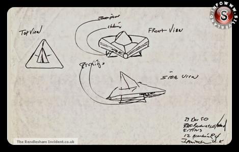 Schizzo sergente James W. Penniston, Oggetto di forma triangolare