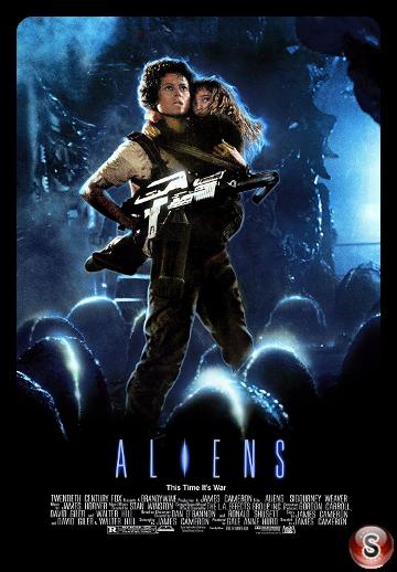 Aliens Scontro finale - Aliens This time it's war - Locandina - Poster
