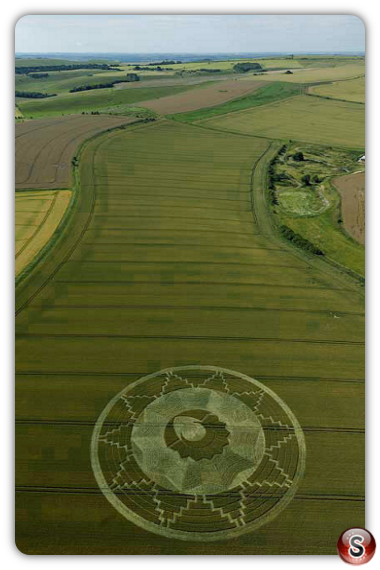 Crop circles  East Kennett, Wiltshire, UK. 2011