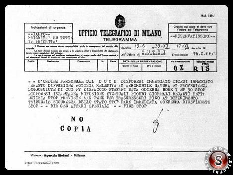 """Il caso venne seguito dall'OVRA (il servizio segreto fascista) che, con ordine personale del Duce, impose """"assoluto silenzio"""" sull'episodio."""