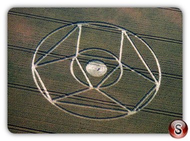 Crop circles - Winterbourne, Bassett, Wiltshire 1995