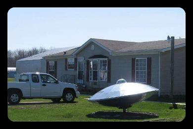 Casa americana con Ufo