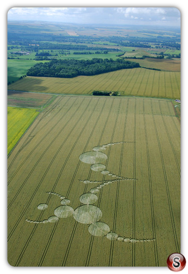 Crop circles - East Field Alton Barnes Wiltshire 2007