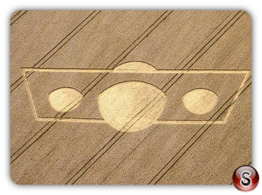 Crop circles Morgan's Hill, Wiltshire, UK. 2011