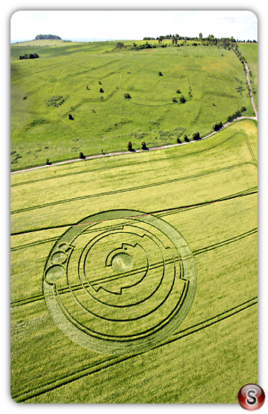 Crop circles - Barbury Castle, Wiltshire 2008