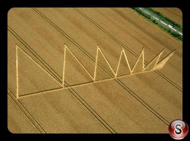 Crop circles - Longwood Rd nr Owslebury, Hampshire 2012