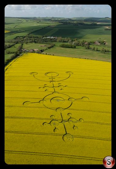 Crop circles - Clatford, Wiltshire 2009