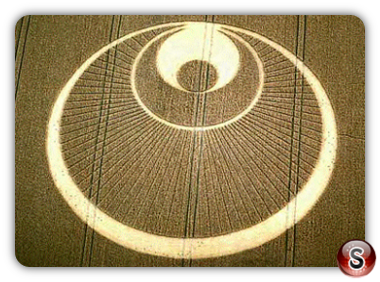 Crop circles - Great Shelford (Angel), Cambridgeshire, 2001