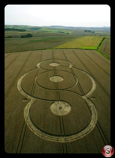 Crop circles - West Overton Wiltshire 2009
