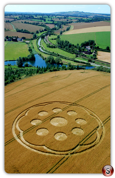 Crop circles - Wilton Water, Wiltshire 2007