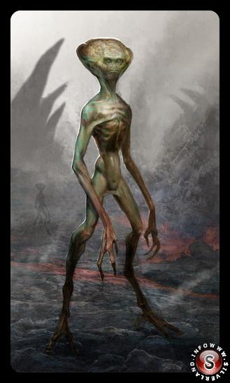 Ricostruzione dell'alieno