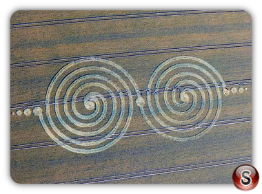 Crop circles Windmill Hill, Wiltshire, UK. 2011