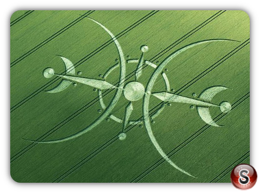 Crop circles Clearbury Ring, Wiltshire UK 2015 - Diagram