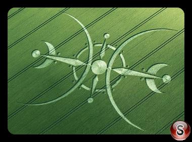 Crop circles - Clearbury Ring Wiltshire UK 2015